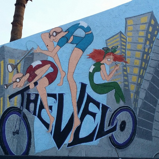 The Velo's Street Art Wall Sign